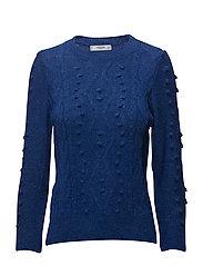 Textured knit sweater - MEDIUM BLUE
