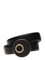Rounded buckle belt - BLACK
