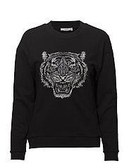 Tiger embroidered sweatshirt - BLACK