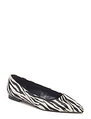 Zebra leather shoes - WHITE