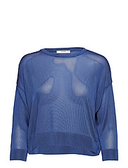 Fine-knit sweater - MEDIUM BLUE