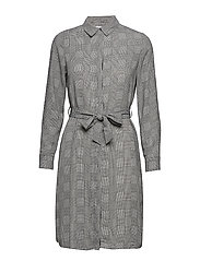 Bow shirt dress - GREY