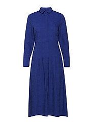 Snake print shirt dress - MEDIUM BLUE