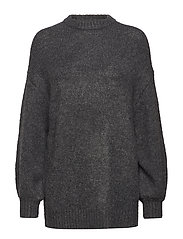 Long knit sweater - CHARCOAL