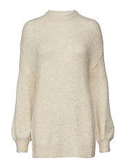 Long knit sweater - LIGHT BEIGE