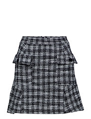 Check tweed skirt - NATURAL WHITE