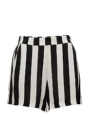Printed flowy shorts - BLACK