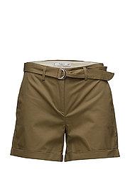 Belt cotton-blend short - BEIGE - KHAKI