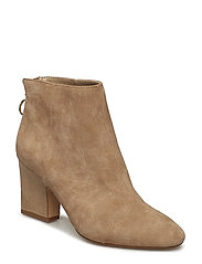 Zipped leather ankle boots - LT PASTEL GREY