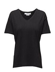 V-neckline essential t-shirt - BLACK