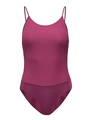 Ribbed bodysuit - MEDIUM PURPLE