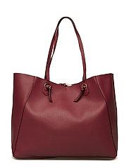 Knot shopper bag - DARK RED
