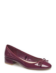 Patent leather heel shoes - DARK RED