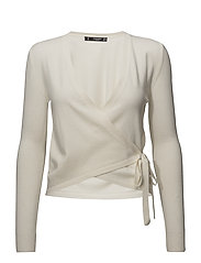 Wrap tied cardigan - LIGHT BEIGE