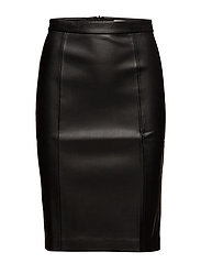 Seams pencil skirt - BLACK