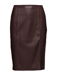 Seams pencil skirt - DARK RED