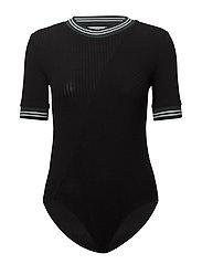 Short sleeve bodysuit - BLACK