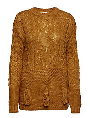 Chunky-knit sweater - BROWN