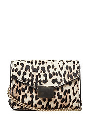 Animal print leather bag - LIGHT BEIGE