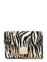 Animal print leather bag