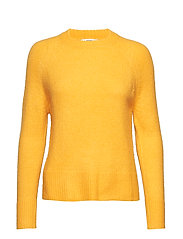 Wool-blend knit sweater - YELLOW