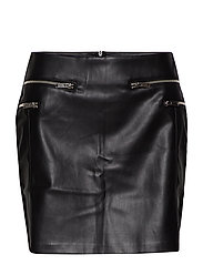 Decorative zip skirt - BLACK