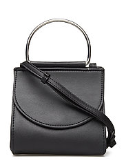Metallic handle mini bag - BLACK
