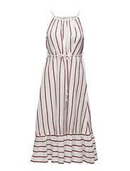 Striped linen dress - NATURAL WHITE