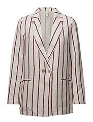 Unstructured linen blazer - NATURAL WHITE
