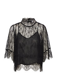 Lace blouse - BLACK