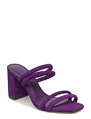 Leather straps sandals - PURPLE