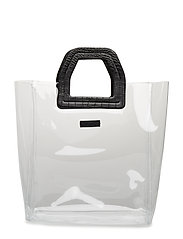 Vinyl shopper bag - BLACK