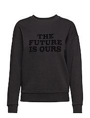 Furry message sweatshirt - BLACK