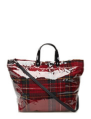 Vinyl shopper bag - RED