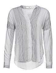 Satin striped shirt - NATURAL WHITE