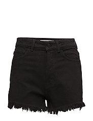 Frayed hem denim shorts - OPEN GREY