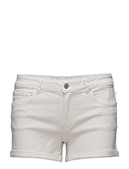 White denim shorts - WHITE