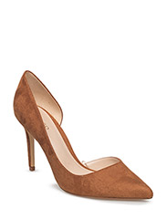 Asymmetric stiletto shoes - DARK BROWN
