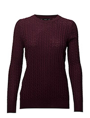 Cable-knit sweater - DARK RED
