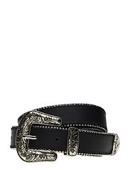 Cowboy style belt - BLACK