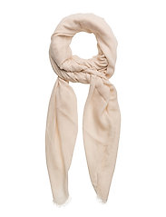 Textured scarf - LIGHT BEIGE