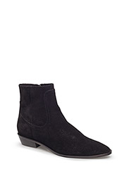 Zipper leather boots - BLACK