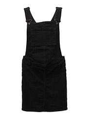 Black denim pinafore dress - OPEN GREY