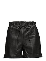 High-waist shorts - BLACK