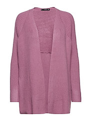 Ribbed cardigan - LT-PASTEL PURPLE