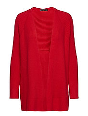Ribbed cardigan - RED