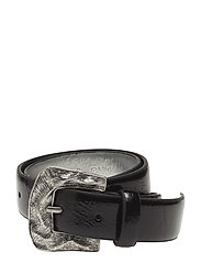 Metal buckle belt - BLACK