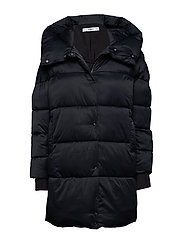 Oversize quilted coat - BLACK