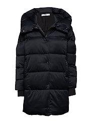 Oversize quilted coat - BLACK