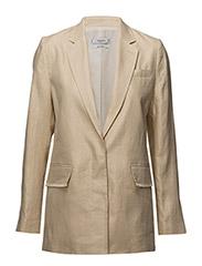 Structured linen jacket - LIGHT BEIGE